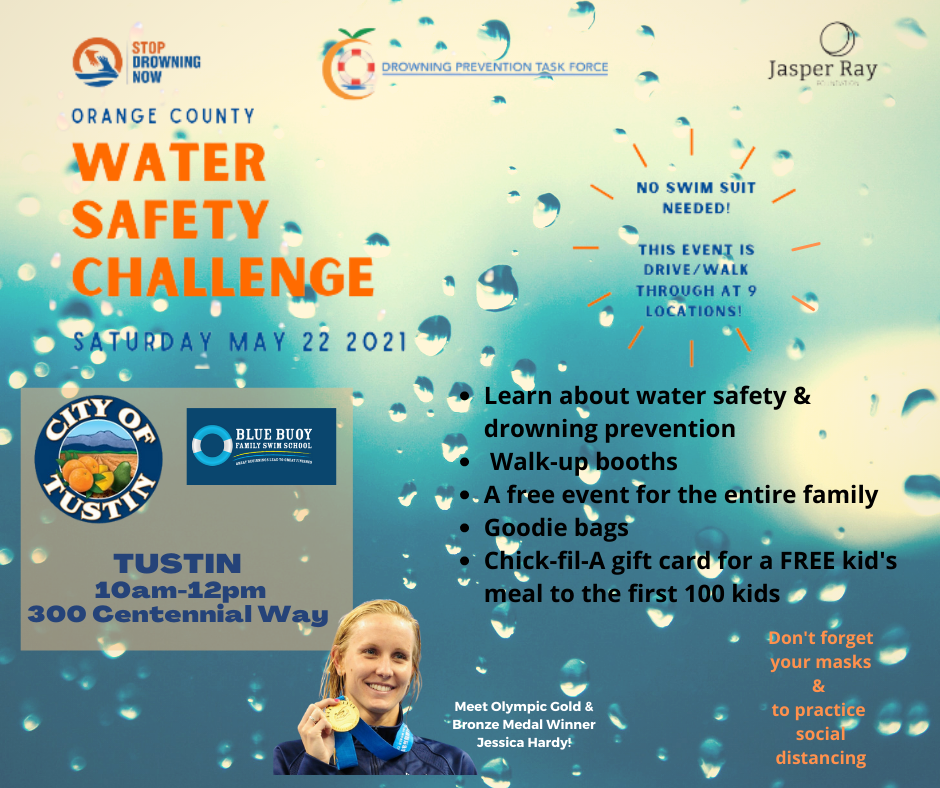 Water Safety Challenge 2021 flyer
