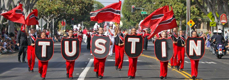 Tustin Color Guard in a Parade